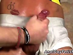 horny tied up slave gets his little pecker jerked off