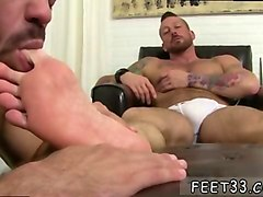young gays foot fetish xxx ricky is coerced to odor hughs dress shoes which hes been