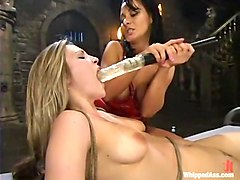 Harmony and Sandra Romain in Whippedass Video