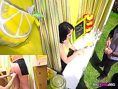 hoe kristina rose sells lemonade while getting boned