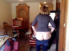 milf is trying clothes on webcam
