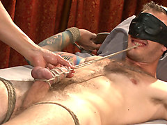 Edged in front of a live audience Christian Wilde blows a massive load