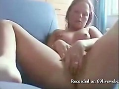 blonde fingering and fisting on webcam likes fuck her pussy