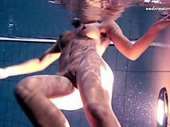 awesome underwater erotic video with hot brunette amateur floosie