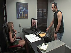 office slut chloe cane rides on her coworker's massive shaft