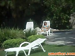 Step mom brunette blowjob riding big rod