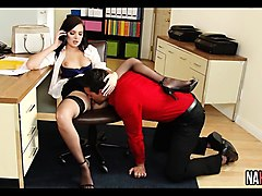 lingerie pussy in office marley brinx