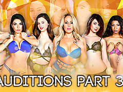 Aspen Ora, Darcie Dolce, Elektra Rose, Eva Lovia, Jessica Ryanin Season 2 - Auditions Part 3 - DigitalPlayground