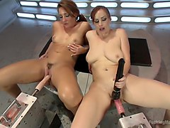 Incredible Squirting, Fisting, G/G Machine fucking, Orgasm Overload!