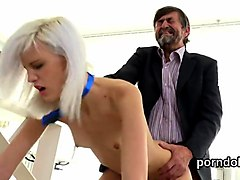 sensual college girl is seduced and fucked by her elderly lecturer