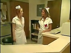 Lesbian Nurses Seduction In White Stocking