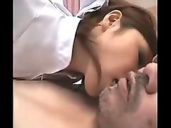 naughty asian nurse displays her amazing rimjob and blowjob