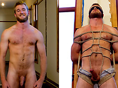 Hairy dude gets his uncut cock edged!