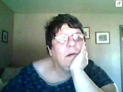 Fat Amateur Granny in the webcam