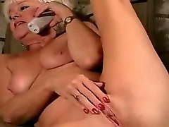 Very Hot Blonde Granny Anal Cam