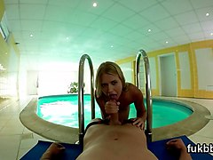 Unusual teenie pleases crack and gets licked and banged in pov