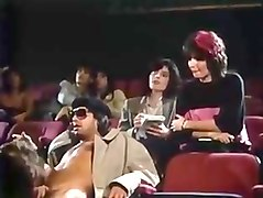 Blowjob in the cinema.