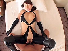 Mio Kayama in Leather gets her off - CosplayInJapan