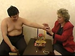 satisfying this russian granny's need for dick on camera