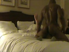 black stud was banging my whorable cheating wife missionary style