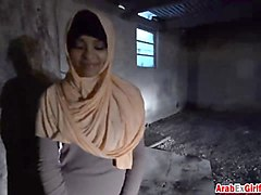 beautiful arab slut takes hard pussy pounding by hard cock