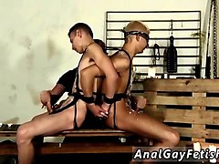 two gay slaves get a handjob from their nasty master