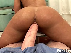 cowgirl refining big cock with titjob in mmf hardcore porn