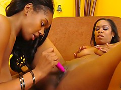 Black Lesbians Whipping Out Sextoys
