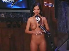 Jazessa Brazil is on the Howard Stern show and gets naked