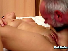 arianna loves the taste of grandpa cock in her pussy