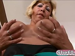 Sarah gets her mature cunt fucked by bbc