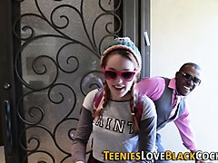 jizz mouthed teen black