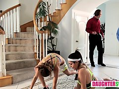 audrey royal and kara faux in the stretch and swap