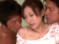 yura kasumi loves having two cocks in her holes