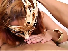 thick and juicy milf in a mask gives awesome titjob