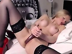 blonde british girl on camera desires one to fuck her