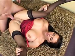 Naturally Busty MILF Angelica Sin Takes Deep Piledriver Anal