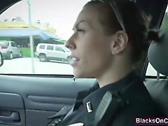 Nasty police girls slammed hard by BBC