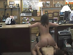 customers wife pounded by nasty pawn guy in his pawnshop