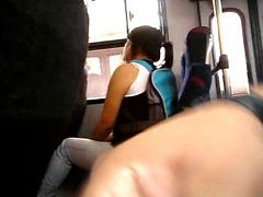 Flashing Beautiful Emo Girl Look At My Cock On The Bus