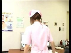 Dirty Japanese Nurse Gives Hot Handy