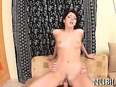 nasty chick is performing deep throat oral-job