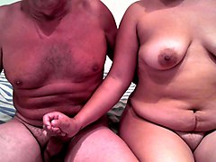 mature granny playing with her hubby's cock in amateur clip