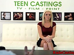 ### casting for lovely deepthroating teen