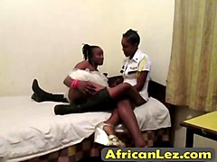 ebony lesbian african amateurs dildo shaved cunt
