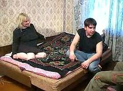 Russian Mommy With Two Boys