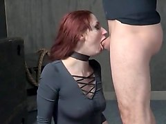 Redhead bdsm throat and pussy pounding
