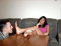 BARE FOOT   Mistress Sylwia Dirty foot worship
