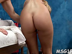 nice girl with oiled booty bounces on dick moans with orgasm