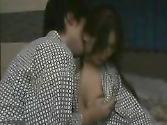 asian teens make out and he pulls her panties down to finge